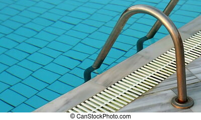 pool - Swimming pool at different times of day