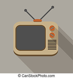 Retro TV set icons