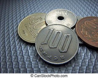 Japanese money, silver coin, yen