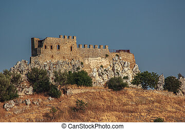 Castle Delia in Sicily, a military fortification, the...