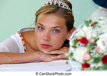 Pretty bride portrait