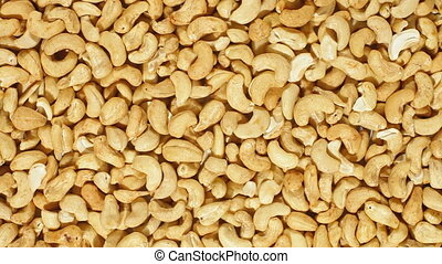 DOLLY: Roasted cashew nuts - Roasted cashew nuts background,...