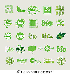 collection of vector eco sign