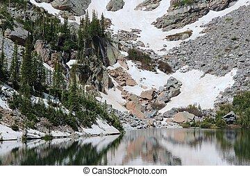 Rocky Mountain National Park in Colorado, USA. Emerald Lake...