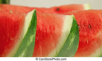 Slices of watermelon closeup
