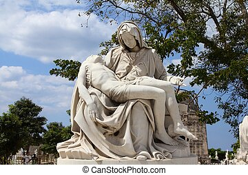 Pieta - Cuba - the main cemetery of Havana. Necropolis...