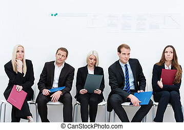 Group of applicants for a vacant post or corporate job...