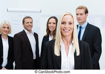 Successful corporate manageress - Successful attractive...