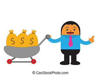 businessman in activity - illustration vector graphic of...