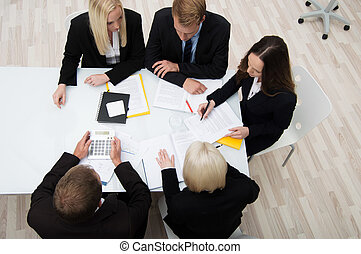 Colleagues in a business meeting