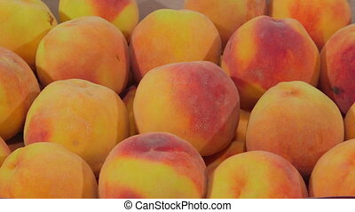 DOLLY: Fresh ripe peaches - Fresh ripe peaches in the box...