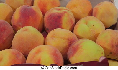 Fresh ripe peaches for sale