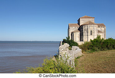Sainte Radegonde church is located in the south west of...