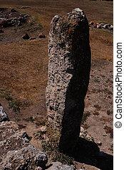 Menhir of stoneage of Sardinia