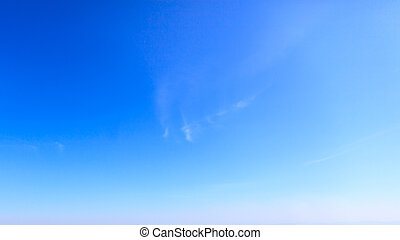 Clear blue sky background - Beautiful clear blue sky in day...