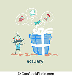 actuary with a gift in which the cars, houses, money, time