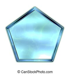 Pentagon. Glass shape.