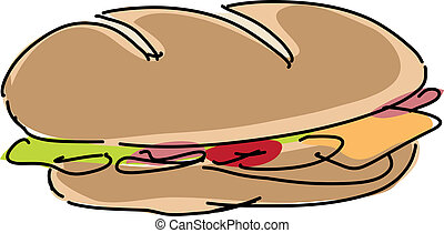Sandwich illustration - Fresh sandwich illustration,...