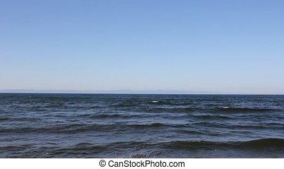 Baikal lake landscape Olkhon island