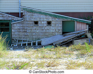 Rustic Old Shack Shed - A rustic old shack shed shows signs...