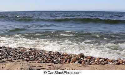 Baikal lake landscape. Olkhon island