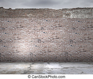 Brick wall - Background image of brick wall. Place for text