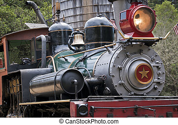 Steam Train Stopped At Water Tower