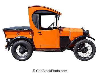 1929 Austin 7 Truck isolated with clipping path