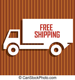 Free shipping white label on special brown background