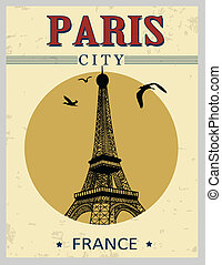 Eiffel Tower tower from Paris poster - Eiffel Tower tower...