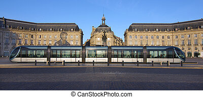The tramway in bordeaux city