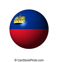Sphere with flag of Liechtenstein