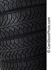 The automobile tire as a background