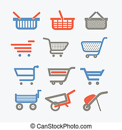 Shopping carts and trolleys