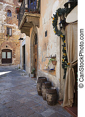 Streets of Colle di Val d'Elsa town, Italy - Streets of...