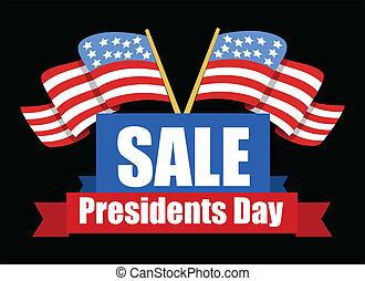 Sale Banner Design - Presidents Day Vector Illustration