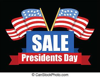 Sale Banner Design - Presidents Day Vector Illustration