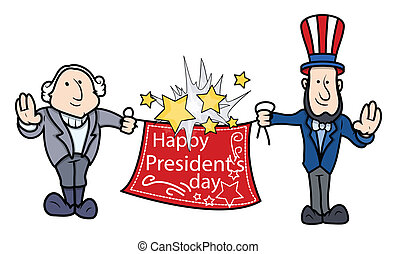 George Washington and Lincoln Greets - George Washington...