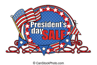 Presidents Day Vector Frame - Big USA Patriotic Sale -...
