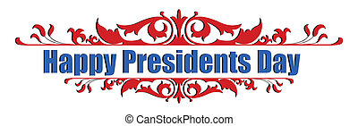 Happy Presidents Day Text Message Greeting Vector...