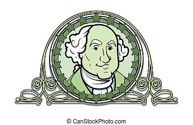 George Washington Vector Illustration Clip-art with Ancient...