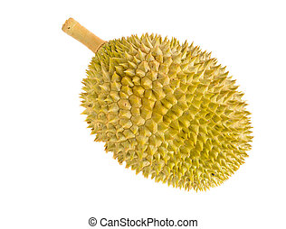 Durian fruit isolated on white background King of fruits in...