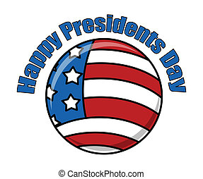 Happy Presidents Day Icon Vector Illustration
