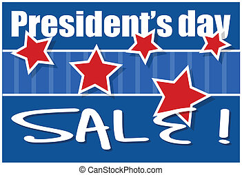 Presidents Day Sale Background Vector Illustration