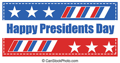 Happy Presidents Day Banner Flag