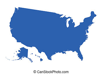 USA Map Vector - Drawing Art of USA Map Shape Vector...