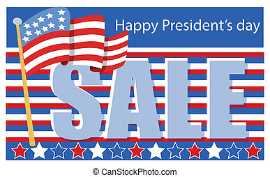 Washington Birthday Sale - Drawing Art of Presidents Day...