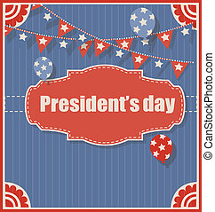 Vintage Presidents Day Background