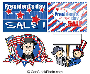 Presidents Day Graphic Designs - USA Theme Washington...