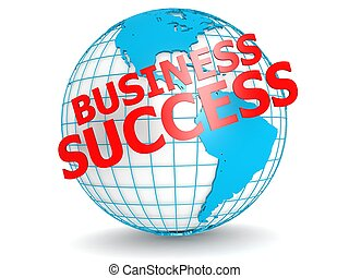 Business success with globe - Hi-res original 3d rendered...